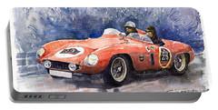 1953-1955 Ferrari 500 Mondial 1000 Miglia Portable Battery Charger by Yuriy  Shevchuk
