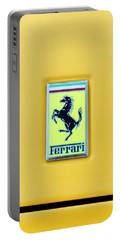 Portable Battery Charger featuring the photograph Ferrari Badge by Theresa Tahara