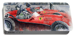 Ferrari Dino 246 F1 1958 Mike Hawthorn French Gp  Portable Battery Charger