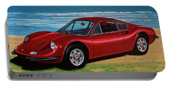 Ferrari Dino 246 Gt 1969 Painting Portable Battery Charger