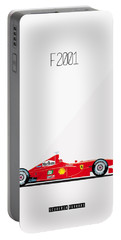 Ferrari F2001 F1 Poster Portable Battery Charger