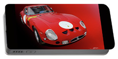 Ferrari Gto Illustration Portable Battery Charger by Alain Jamar