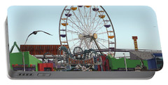 Ferris Wheel At Santa Monica Pier Portable Battery Charger