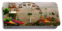 Portable Battery Charger featuring the photograph Ferris Wheel by Bonnie Willis