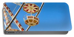 Ferris Wheel Cars In Toulouse Portable Battery Charger by Semmick Photo