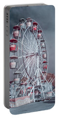 Ferris Wheel In Morning Portable Battery Charger by Greg Nyquist
