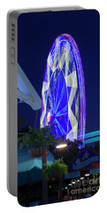 Ferris Wheel, Night Motion, The State Fair Of Texas Portable Battery Charger