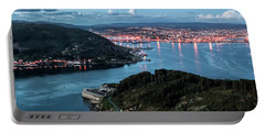 Ferrol's Estuary Panorama From La Bailadora Galicia Spain Portable Battery Charger