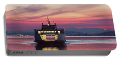 Ferry Issaquah Docking At Dawn Portable Battery Charger