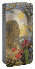 Fertility. Woman In Flowers Portable Battery Charger