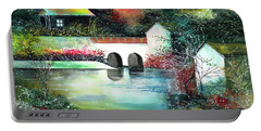 Portable Battery Charger featuring the painting Festival Of Lights by Anil Nene