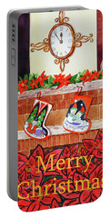 Festive Merry Christmas Card Portable Battery Charger