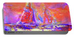 Festive Sailboats 11-28-16 Portable Battery Charger