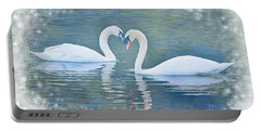 Festive Swan Love Portable Battery Charger