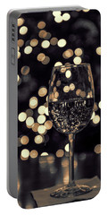 Portable Battery Charger featuring the photograph Festive White Wine by Steven Sparks
