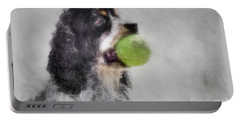 Portable Battery Charger featuring the photograph Fetching Cocker Spaniel  by Benanne Stiens