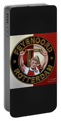 Feyenoord Rotterdam Painting Portable Battery Charger by Paul Meijering