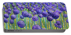Field Of Allium Portable Battery Charger