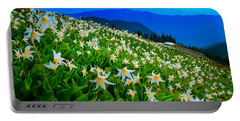 Field Of Avalanche Lilies Portable Battery Charger