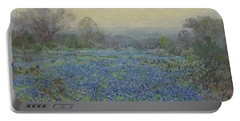 Portable Battery Charger featuring the painting Field Of Bluebonnets by Julian Onderdonk