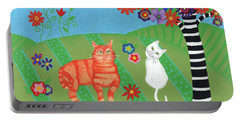 Field Of Cats And Dreams Portable Battery Charger