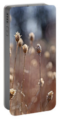 Field Of Dried Flowers In Earth Tones Portable Battery Charger