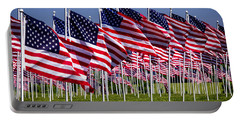 Field Of Flags For Heroes Portable Battery Charger