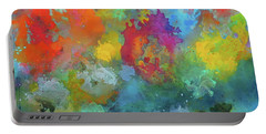 Field Of Flowers. Painting. Portable Battery Charger