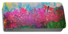 Field Of Flowers W Firefly Portable Battery Charger