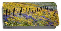 Field Of Gold And Purple Portable Battery Charger