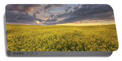 Field Of Gold Portable Battery Charger by Dan Jurak