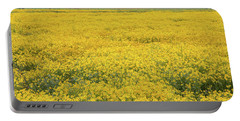 Portable Battery Charger featuring the photograph Field Of Goldfields by Marc Crumpler