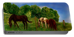 Field Of Horses' Dreams Portable Battery Charger by Kimberlee Baxter
