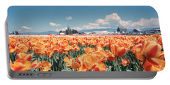 Field Of Orange Portable Battery Charger