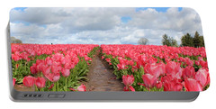 Field Of Pink Portable Battery Charger