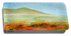 Portable Battery Charger featuring the painting Field Of Poppies by Jamie Frier