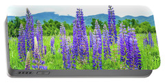 Portable Battery Charger featuring the photograph Field Of Purple by Greg Fortier