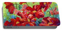 Field Of Red Poppies II Portable Battery Charger