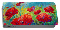 Field Of Red Poppies Portable Battery Charger