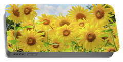 Field Of Sunflower Sunshine Portable Battery Charger