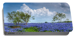 Field Of Texas Bluebonnets Portable Battery Charger