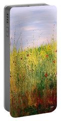 Field Of Wild Flowers Portable Battery Charger