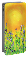 Field Sunset Portable Battery Charger by Val Miller