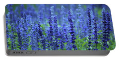 Fields Of Blue Portable Battery Charger by Rowana Ray