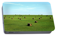 Fields Of Green Portable Battery Charger by Mark Mickelsen