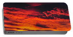 Fiery Close Of Day Portable Battery Charger
