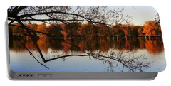 Fiery Colors On The Lake Portable Battery Charger