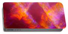 Portable Battery Charger featuring the photograph Fiery Cyclonic Fury by Greg Collins