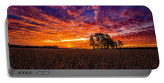 Fiery Dawn At Center Grove Portable Battery Charger