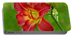 Fiery Daylily Portable Battery Charger